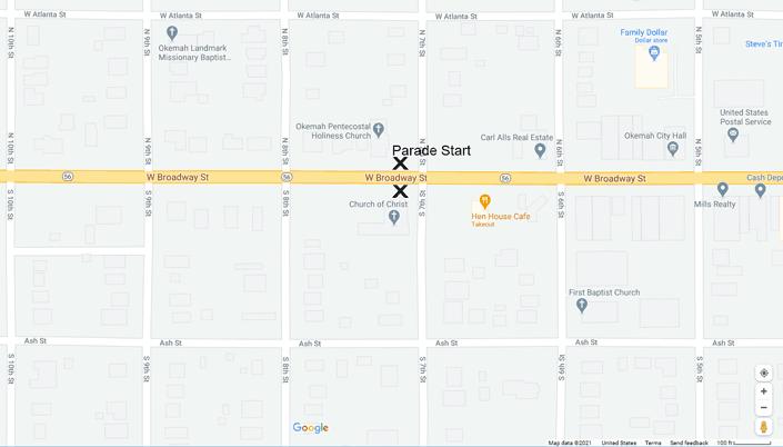 2021 Parade Map